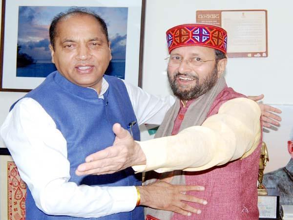 cm jairam thakur met from union minister prakash javadekar