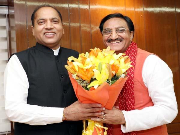 cm jairam thakur in new delhi