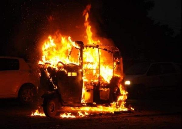 fire in auto