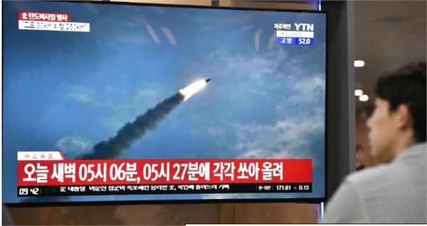 north korea launches two short range ballistic missiles