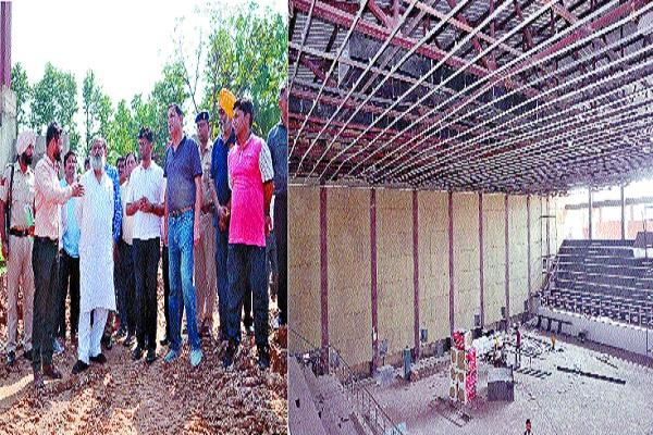 work of gymnastical hall to be completed till august 15