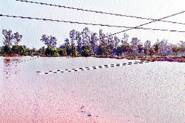 33 kv dropped in the lake near eshargarh