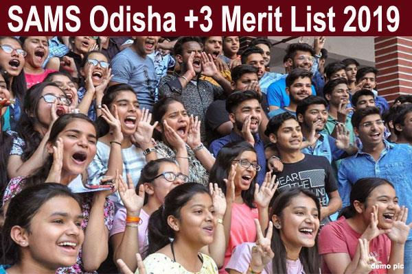 sams odisha 3 merit list 2019 declared