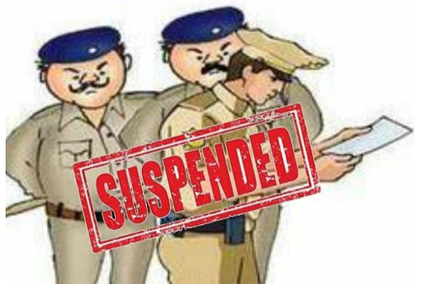 suspends to 7 policemen ssp