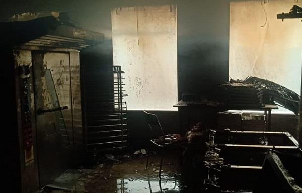 fire in bakery