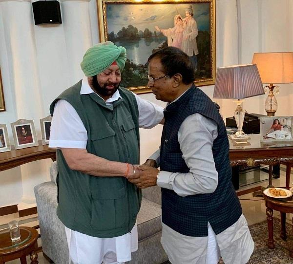 captain amarinder singh meet somparkash kainth