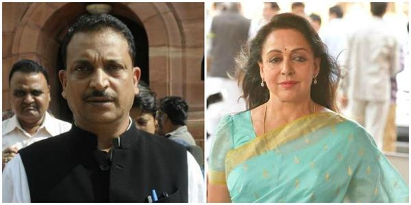 bjp mp rudy hema malini surrounded the government