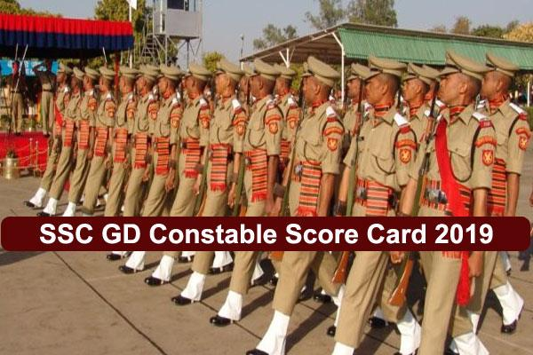 ssc gd constable 2019 marks of examination issues with direct link check