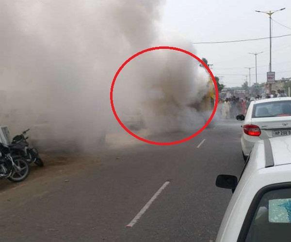 una bus fire