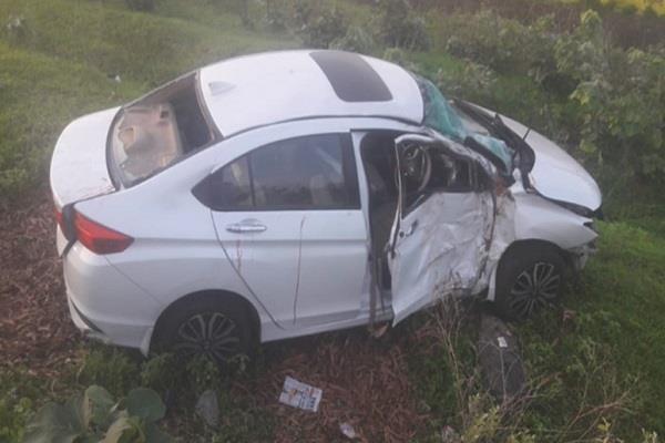 mla panchalal meena s staff kills car accident injures osd