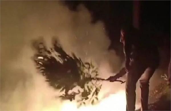 haryana gurugram dlf phase 3 fire fire dept attack