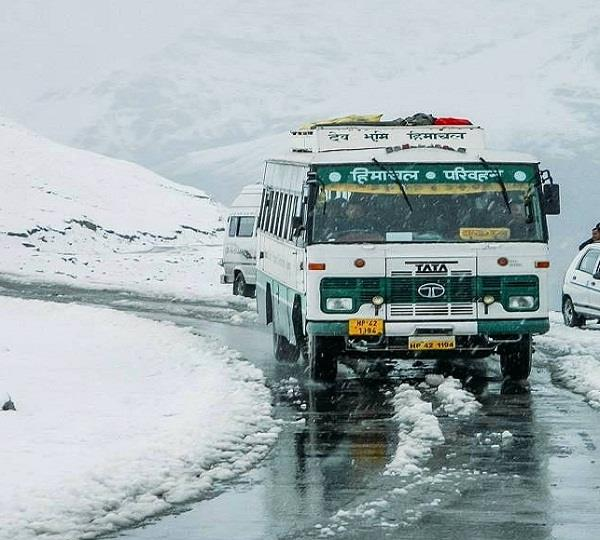 hrtc bus service reaches 9 months after manali kaza