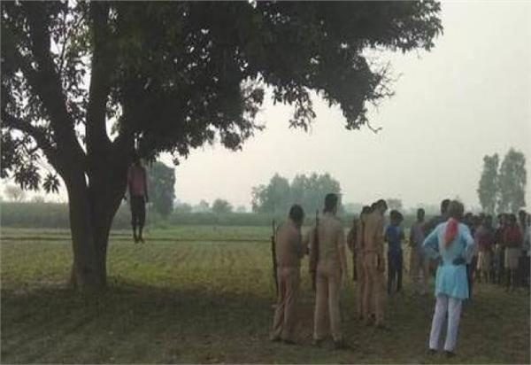 killing soldiers the body of the absconding brother hanged on the tree