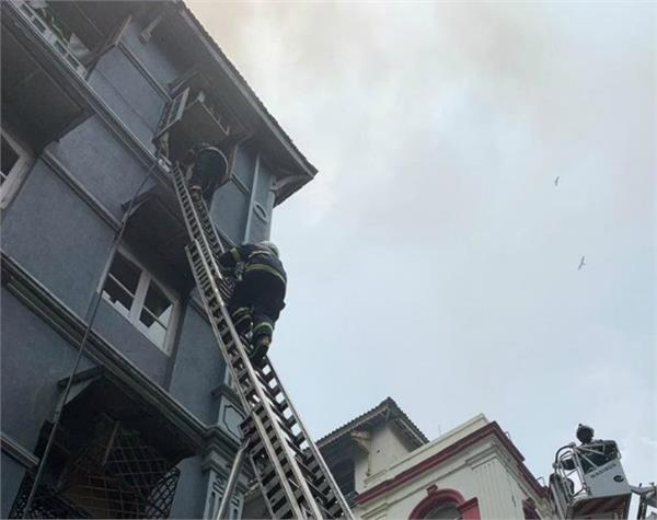 mumbai fire in the building in colaba