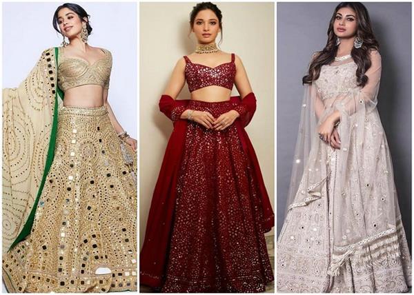 Bridal Fashion: फिर लौट आया मिरर वर्क का ट्रैंड, देखिए लेटेस्ट लहंगे