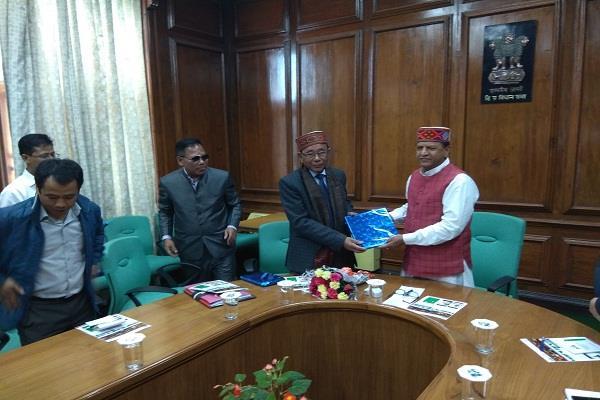 meghalaya state representative visits shimla
