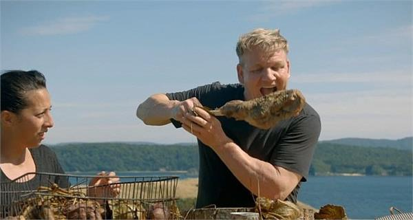 gordon ramsay shoots and then eats a goat in his show