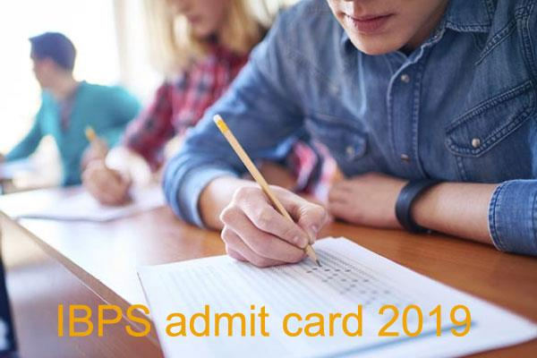 ibps admit card rrb officer scale 1 prelims 2019 admit card released
