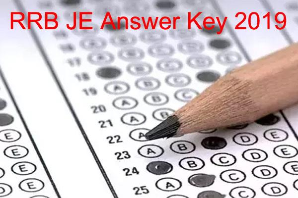 rrb je 2019 railway junior engineer examination released answer key
