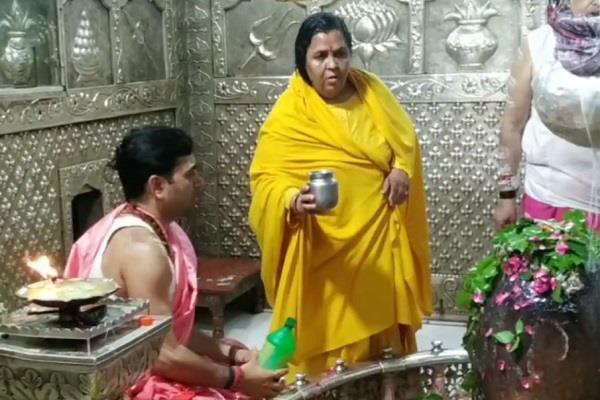 uma bharti in mahakal temple