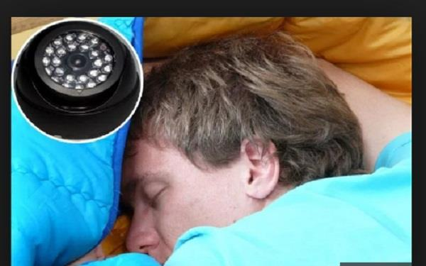 man sets up camera to see why he has trouble sleeping