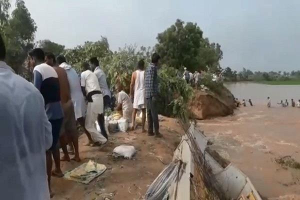 flood into ghagar river