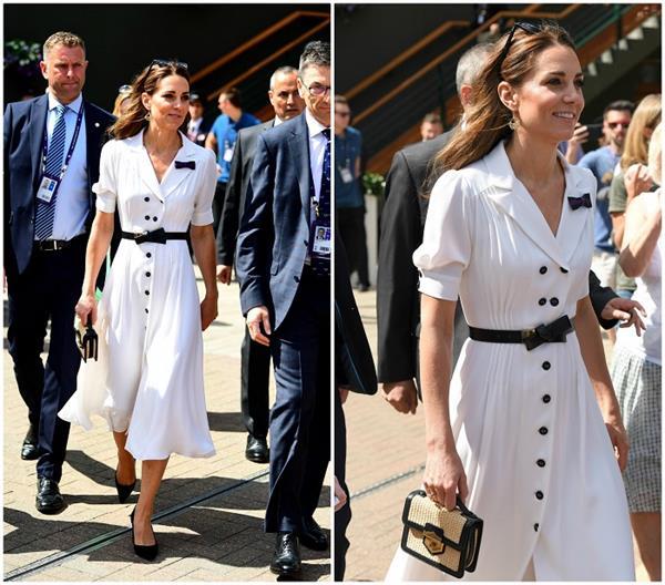 शाही फैशन: टेनिस टूर्नामेंट देखने पहुंची Kate, व्हाइट ड्रैस में लूटी लाइमलाइट (See Pics)