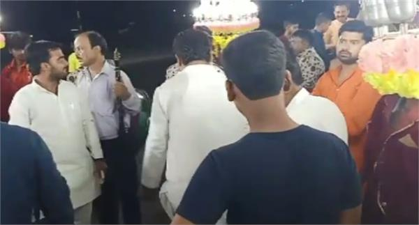 video of bjyu leader firing harsh at marriage ceremony