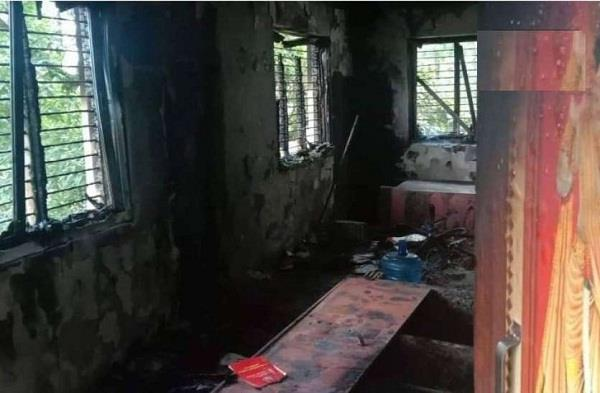 bomb exploded in ward office of nuwakot district in nepal