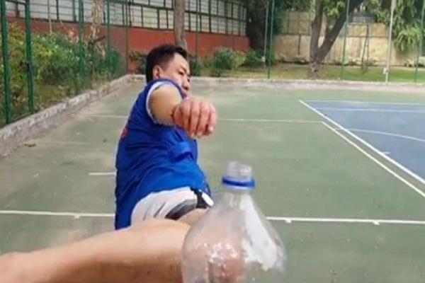 kiran rijiju complete bottle camp challenge