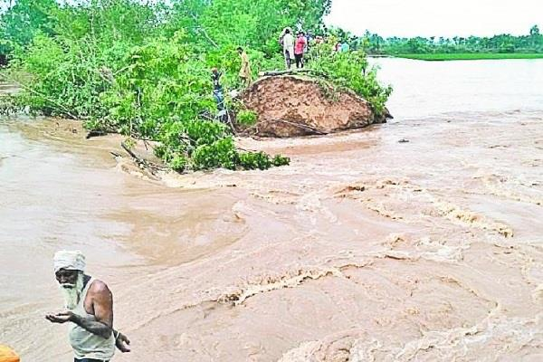 crack dam ghaggar river in sangrur district