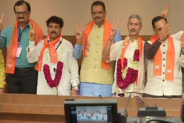 s jaishankar and jugalji thakore wins in rajya sabha bye election