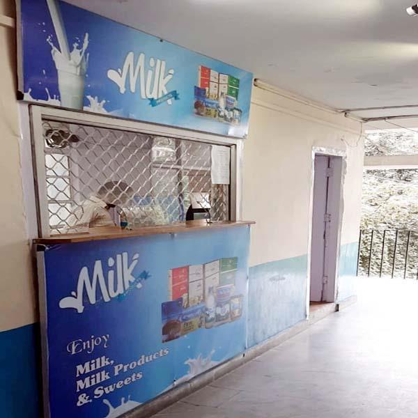 milk bar in hrtc bus stand