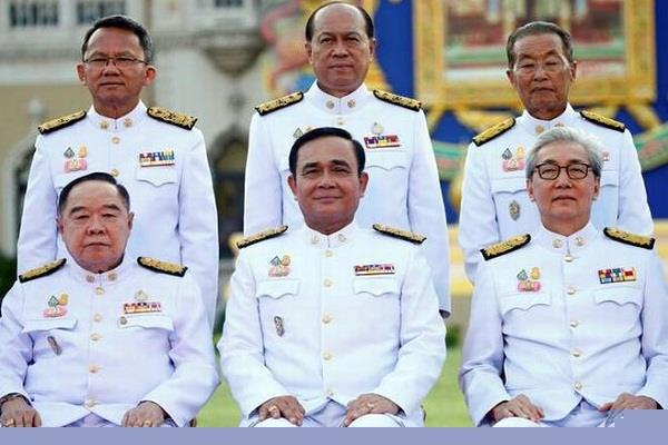 thailand s new cabinet sworn in ending rule by army junta