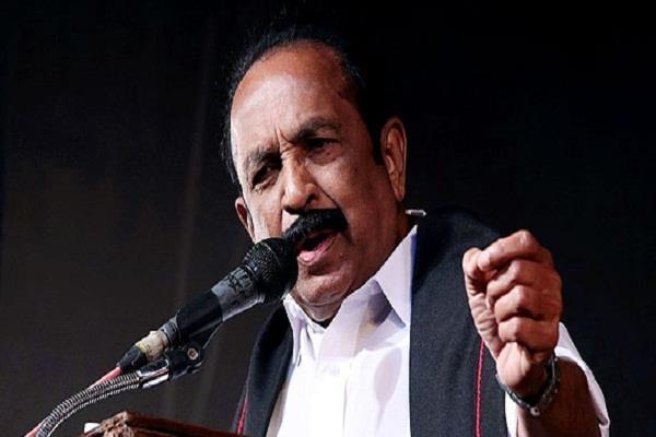 rajya sabha mp vaiko s disputed statement is falling due to hindi