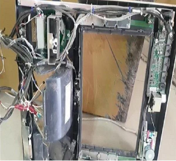 uphold atm and built it behind inova leaving the police on way thief