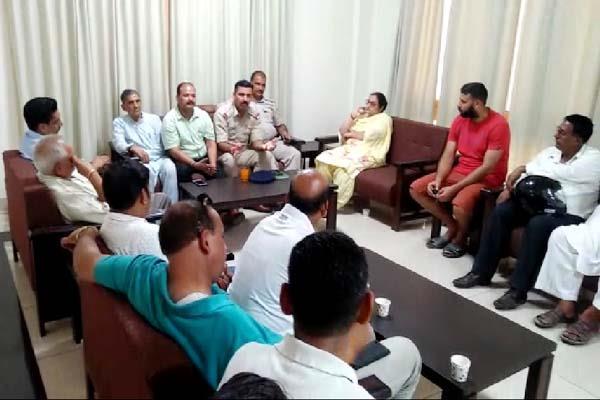 police meeting in jawalamukhi