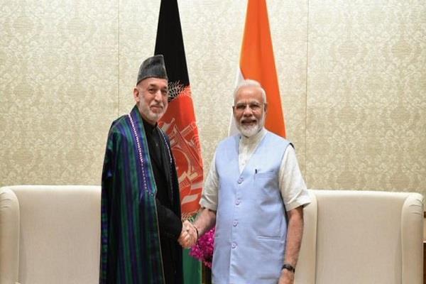 former afghan president hamid karzai met pm modi