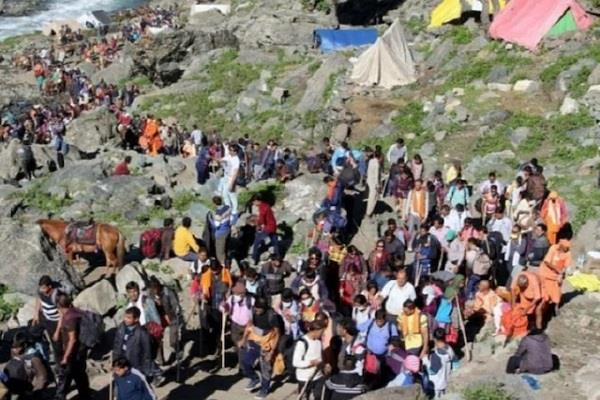 amarnath yatra abruptly canceled due to  apprehension of untoward