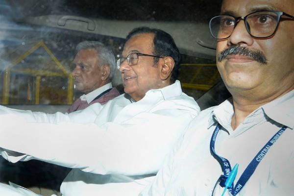 p chidambaram stood in the accused box in court