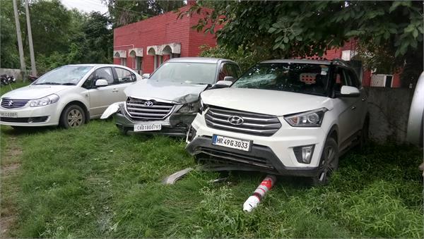 accident in majri chowk