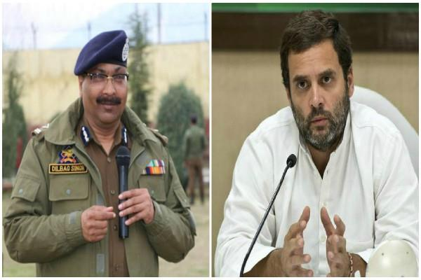 dgp said on rahul gandhi concern over jk not a single bullet fired in 6 days