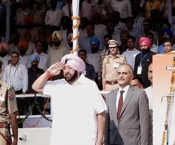 chief minister captain amarendra singh will unfurl the tricolor today