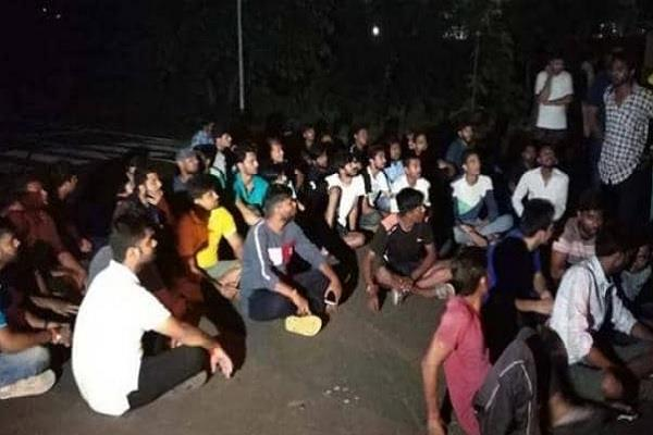 uproar at barkatullah university