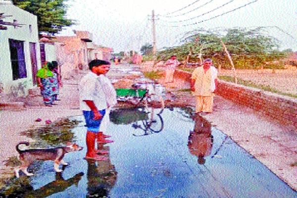 villagers upset due to lack of proper drainage