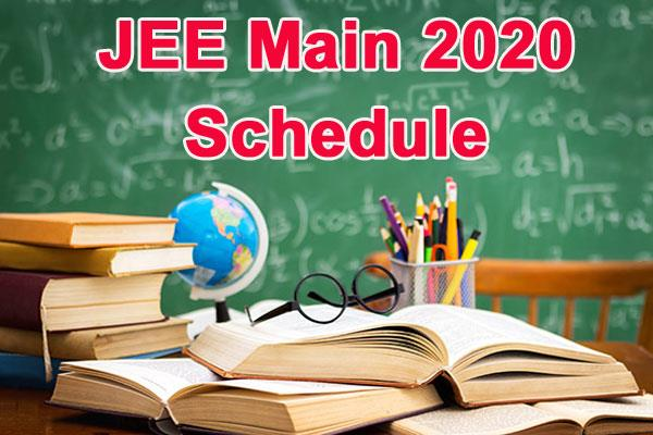 jee main 2020 schedule nta released schedule