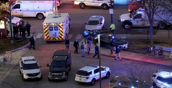 2 shot dead wounded at street party in west chicago