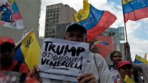 venezuela new protests against us sanctions