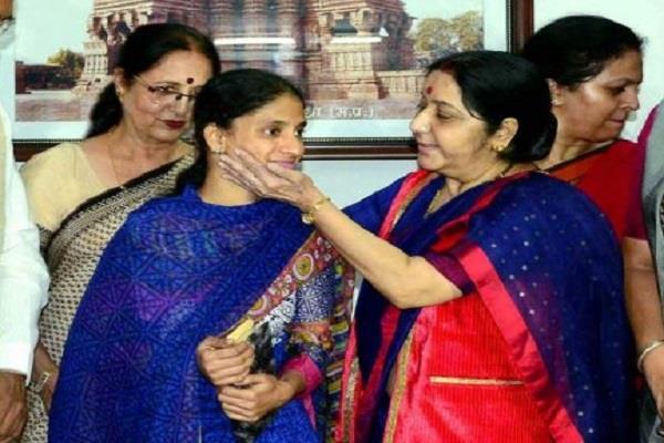 geeta shocked at swaraj death