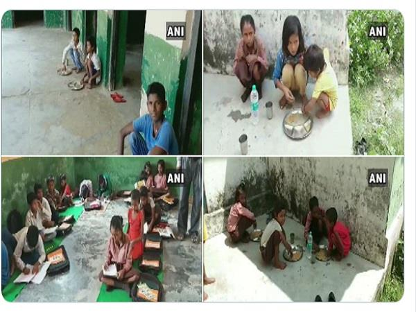 ballia upper caste children eat away from dalit children in primary school